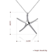 Load image into Gallery viewer, Starfish Necklace in 18K White Gold Plating