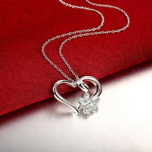Load image into Gallery viewer, Butterfly Heart Necklace in 18K White Gold Plating