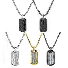 Load image into Gallery viewer, Stainless Steel Designer Inspired Dog-Tag Necklace