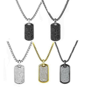 Stainless Steel Designer Inspired Dog-Tag Necklace