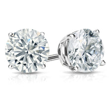 Load image into Gallery viewer, White Gold Swarovski Crystal Stud Earring in Gift