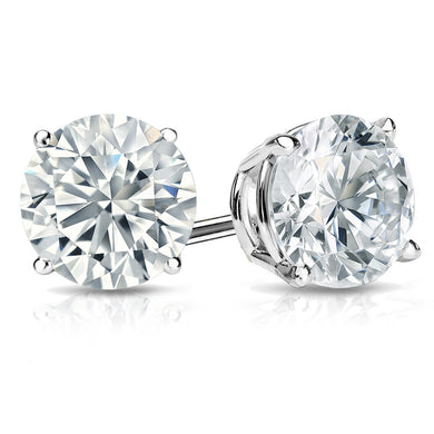 White Gold Swarovski Crystal Stud Earring in Gift