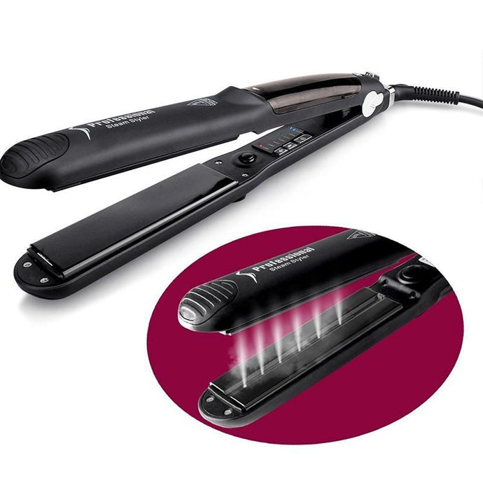 Professional Ceramic Steam Hair Straightener Fast Heating Hair Flat Iron Vapor