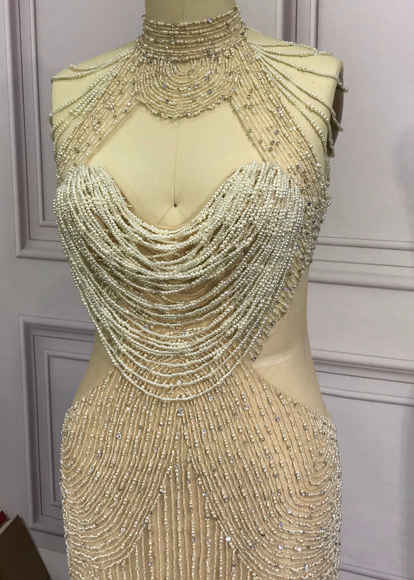 HANDMADE BEADED CRYSTALS LUXURY COUTURE DRESSES COLLECTIONS
