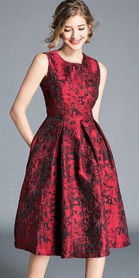 Jacquard fashion dresses