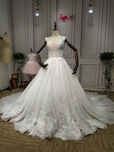 Sweetheart crystals beaded lace appliques pearls swarovski beaded ball gown wedding dresses - Anna's Couture Dresses