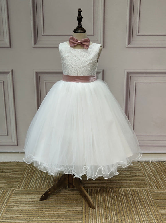 Ivory lace tutu little flower girl dress dresses best seller 2019 - Anna's Couture Dresses