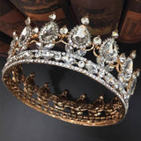 Crystals handmade bridal tiara crown