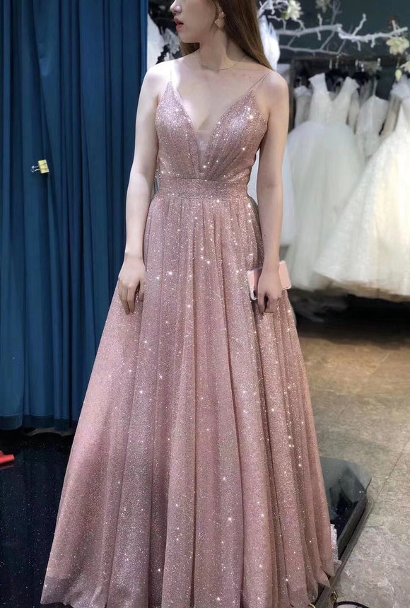 Sparkling glitter fabric prom cocktail dress 2020
