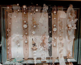 Chic bridal head sash handmade