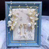 Chic vintage pearls handmade bridal headpieces