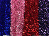 sliver red gold black blue rose sequins fabrics table cloth for wedding DIY decorating designs