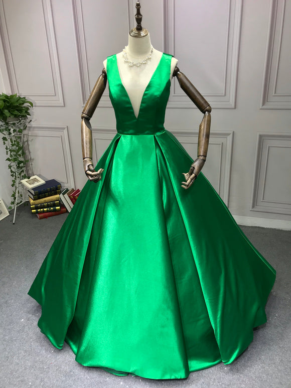 Green ball gown prom dress 2020