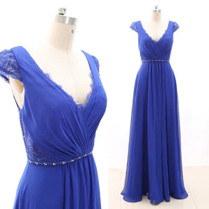 Blue chiffon bridesmaid dresses