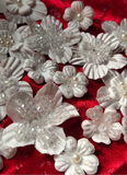 3D artificial pearls crystals handmade beaded flowers for wedding DIY decorating designs