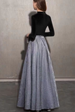 Sparkling fabric long sleeves prom cocktail dress 2020