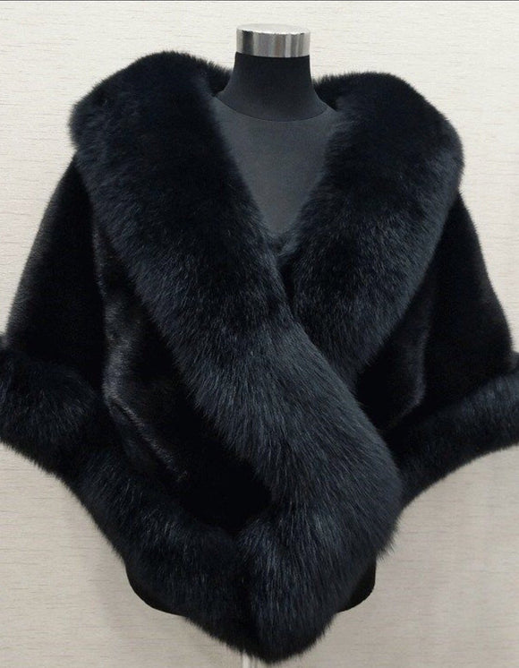 Christmas gift red white black winter wedding accessories fur jacket