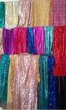 sliver red gold black blue rose green blue yellow sequins fabrics table runners cloth for wedding DIY decorating designs