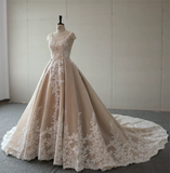 Custom designs nude pink ball gown skirt wedding prom dress