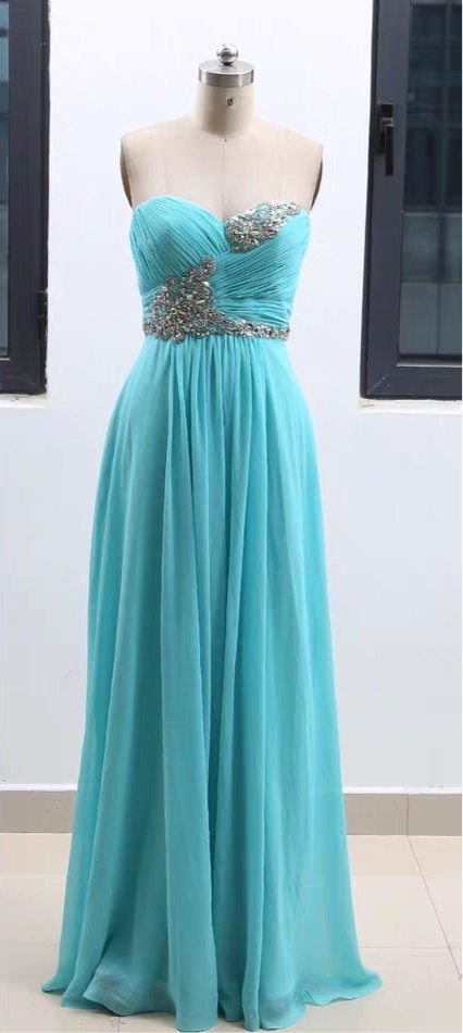 Tiffany blue chiffon bridesmaid dresses