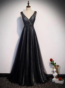 Sparkling black fabric prom cocktail dress 2020
