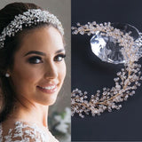 Fairytale crystals pearls handmade bridal headpieces