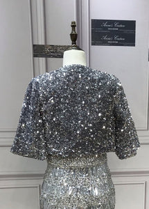 Fashion sparkling sliver sequins jacket