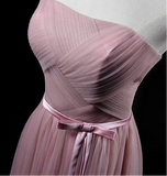 Harry styles pink tulle strapless bridesmaid dresses