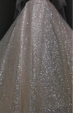 Sparkling shiny glitter fabrics cloth for wedding DIY decorating designs