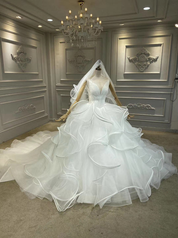 Anna's couture ruffles princess style wedding dress 2020