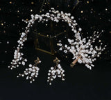 Fairytale crystals pearls handmade bridal headpieces headband