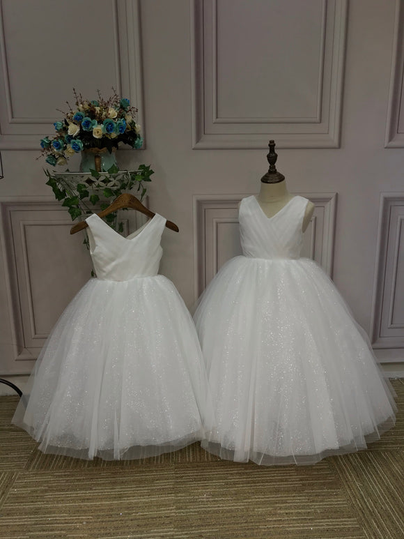 Sparking baby flower girl birthday dress