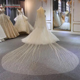 Pearls beaded 3 meters length cathedral bridal wedding veil 2020