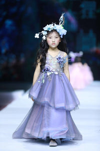 Purple adorable pageant little girl dresses - Anna's Couture Dresses