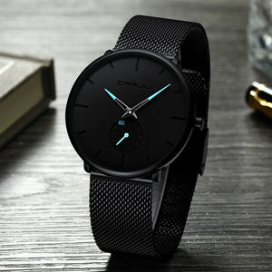 Slim Mesh Steel Waterproof Watch
