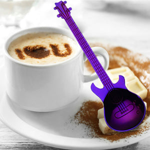 Guitar Shape Stainless Steel Coffee Spoons