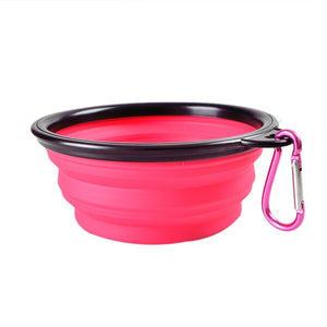 Dog Collapsible Silicone Dow Bowl