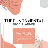 The Fundamental Blog Planner