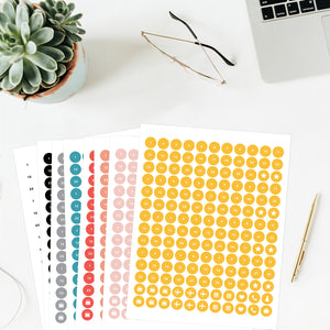 Planner Sticker Template Bundle (8 Templates)