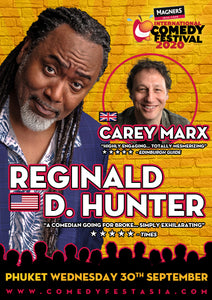 Reginald D Hunter PHUKET Live! - Wednesday 30 SEPT. 2020