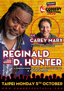 Reginald D Hunter TAIPEI Live! - Monday 5 OCT. 2020