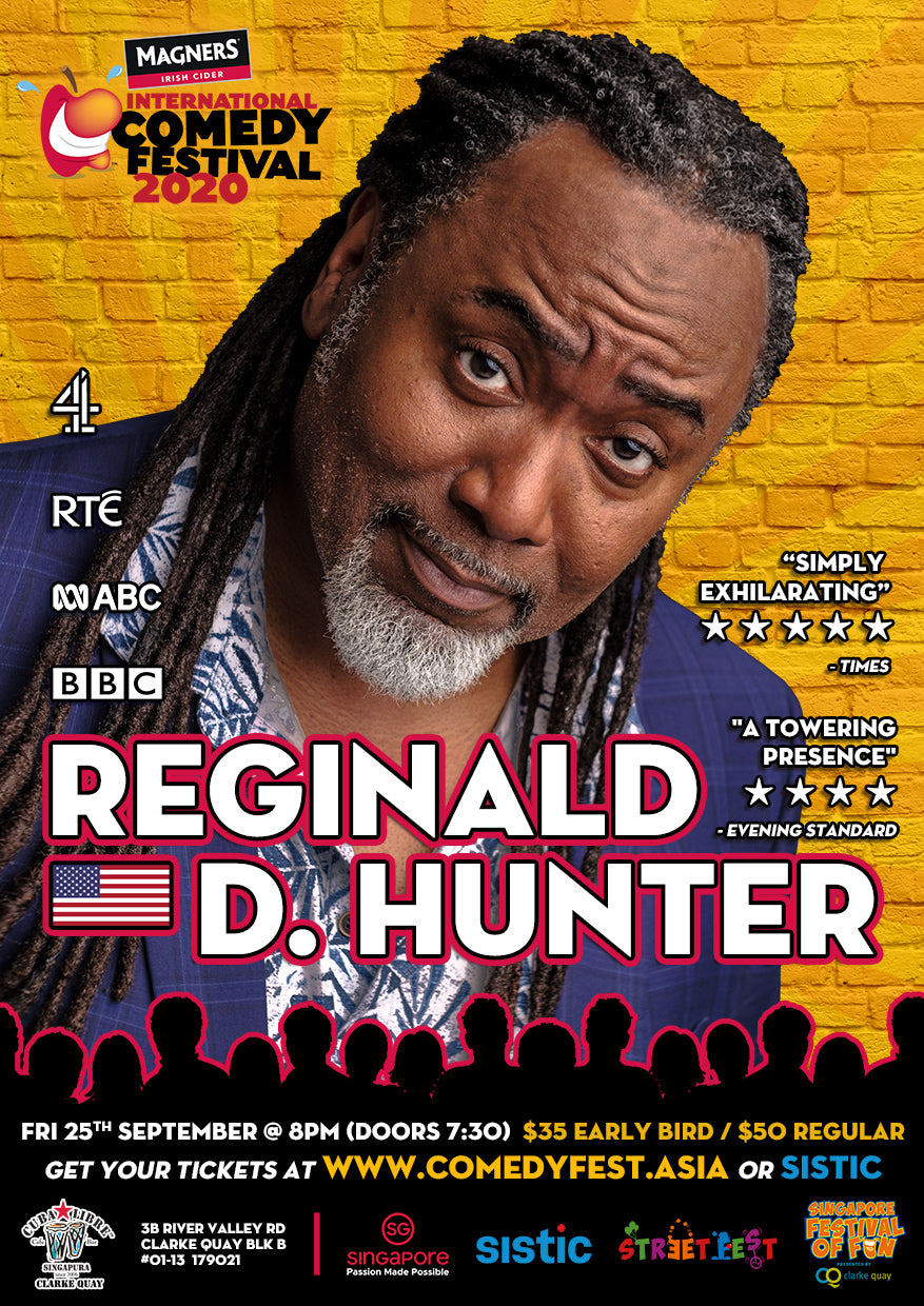 25 Sep - 8.00pm - MICF Presents: Reginald D Hunter (UK)