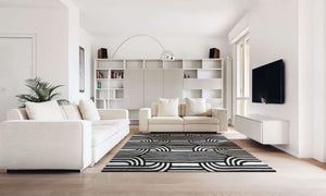 buy black bridge handmade rug by verve hand-made