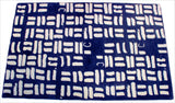 Verve Hand-Made Blue Pictogram Hand Made Rug