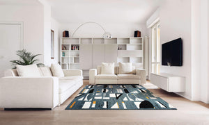 buy limited edition gray handmade rug by verve hand-made