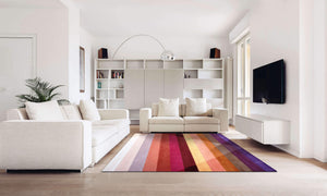 rainbow colorful handmade area rug by verve hand-made