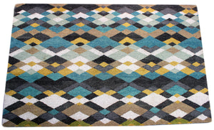 Verve Hand-Made Green Subtly Colorful Hand Made Rug
