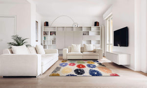 Verve Hand-Made Colorful Circular Momentum Hand Made Rug
