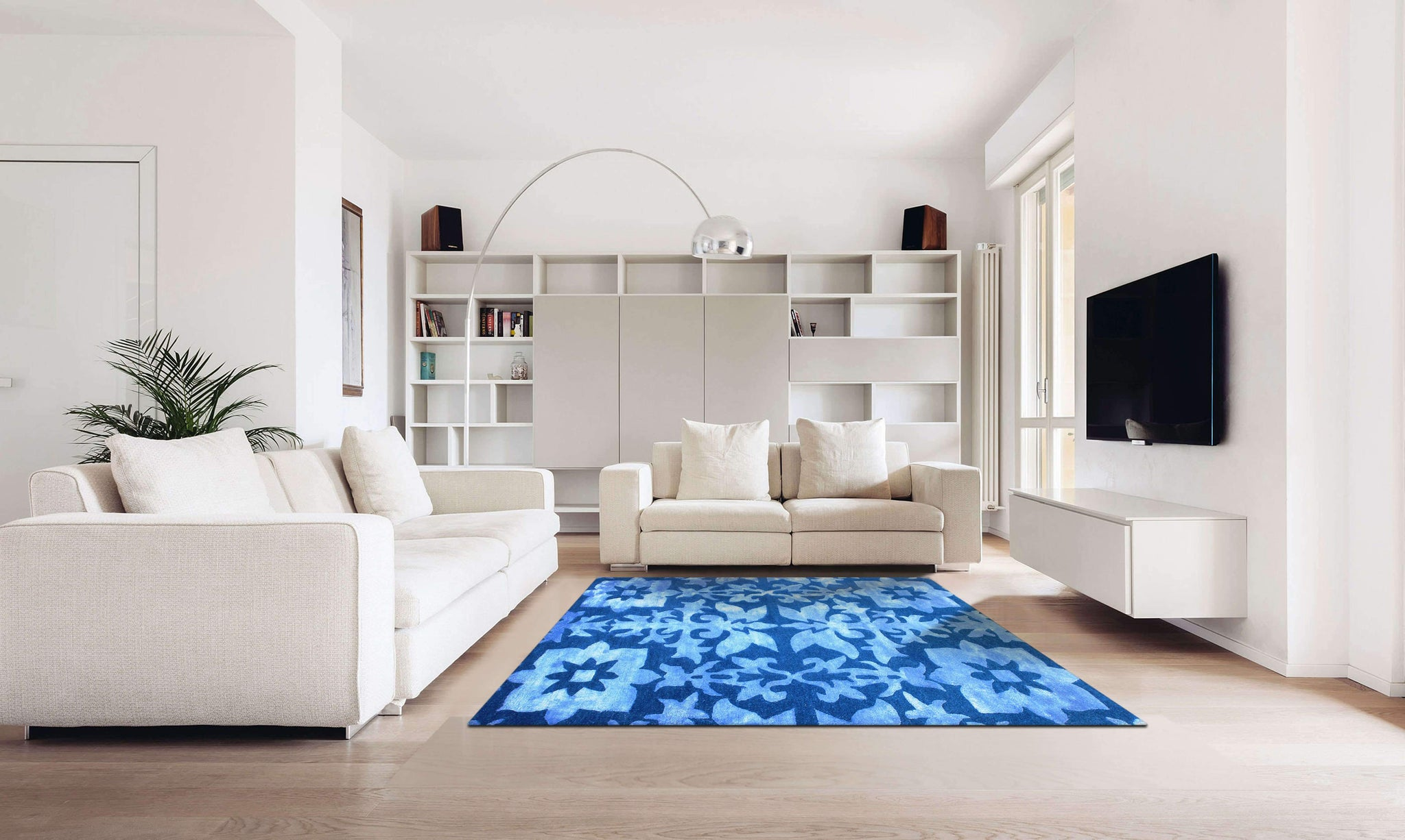 Verve Hand-Made Blue Gentle Discovery Hand Made Rug