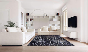 Verve Hand-Made Black Round Dawn Hand Made Rug